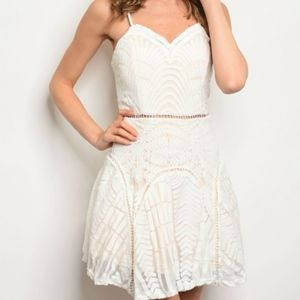 "THE ""LACEY""!  Ivory Lace dress"
